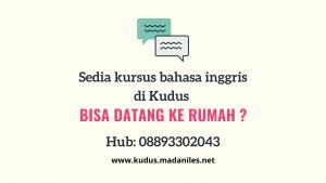 Kursus bahasa inggris di Kudus Hub 08893302043